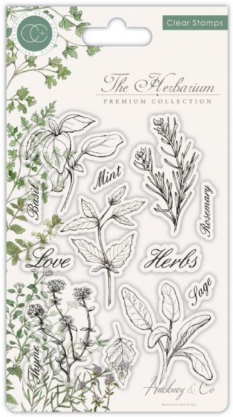 Craft Consortium Clear Stamps The Herbarium - Herbs